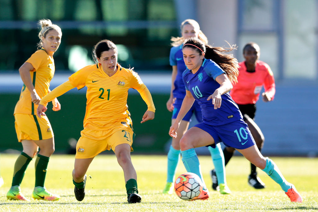 Young Matildas star Alex Chidiac.