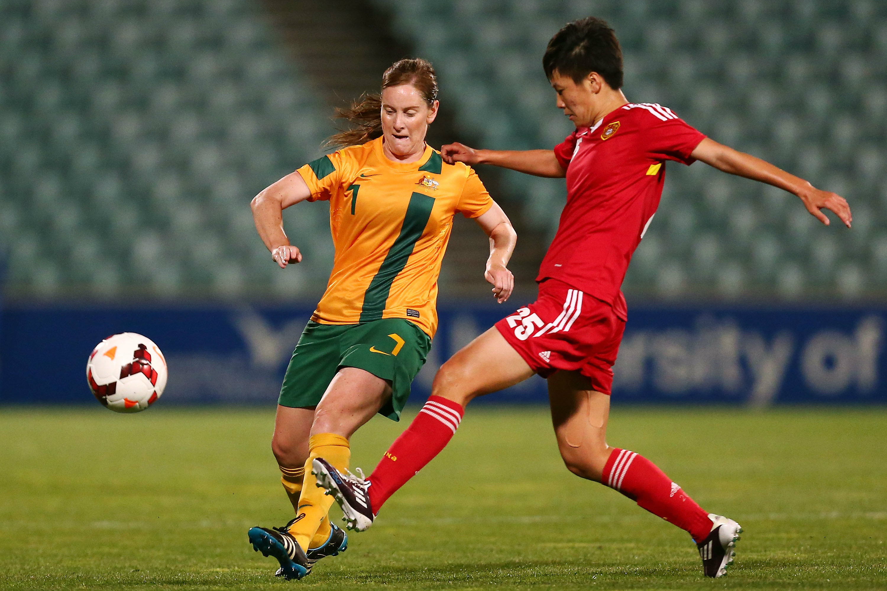 Collette McCallum was a key cog of the Westfied Matildas midfield for many years.