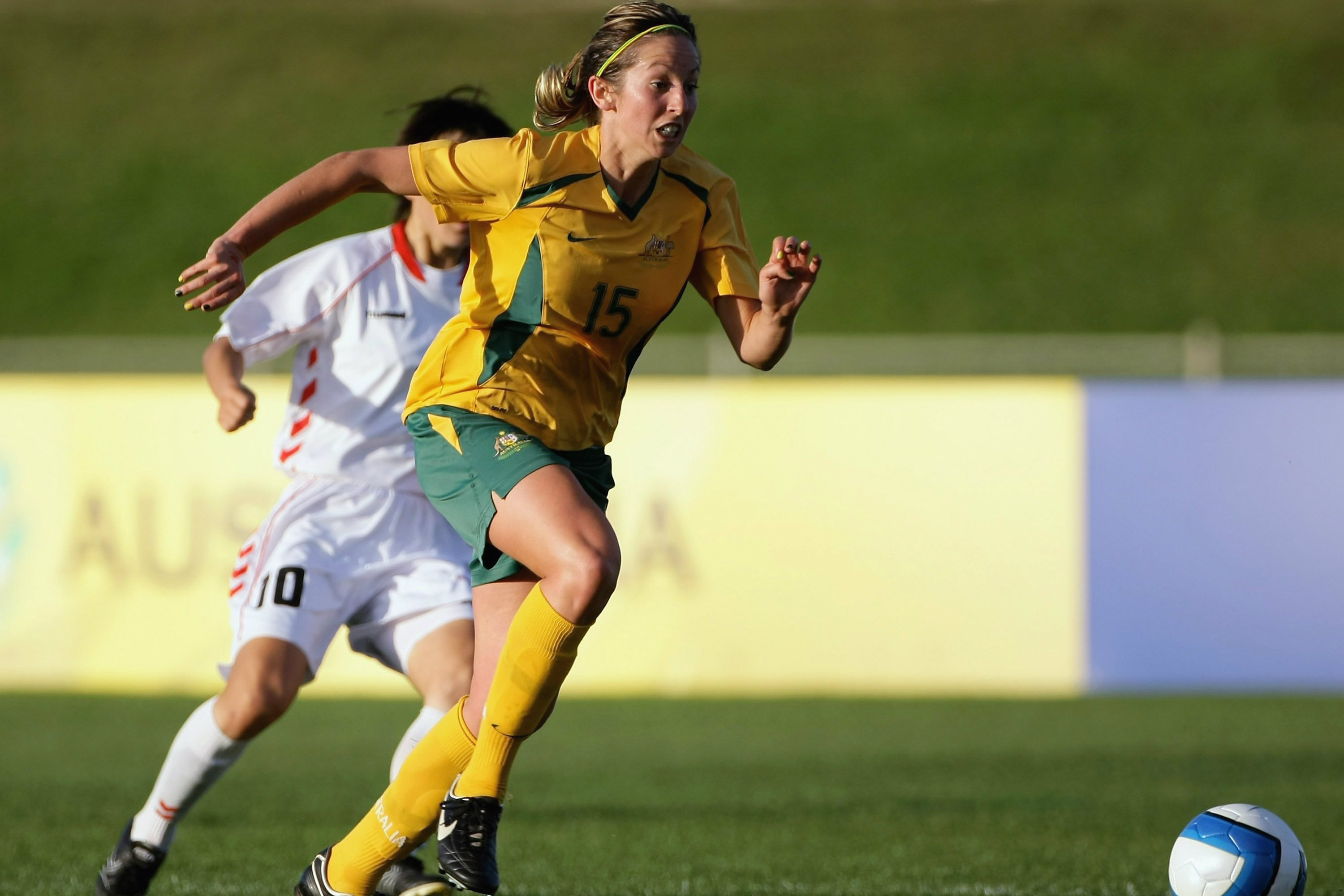 Sally Shipard on the ball for the Westfield Matildas.