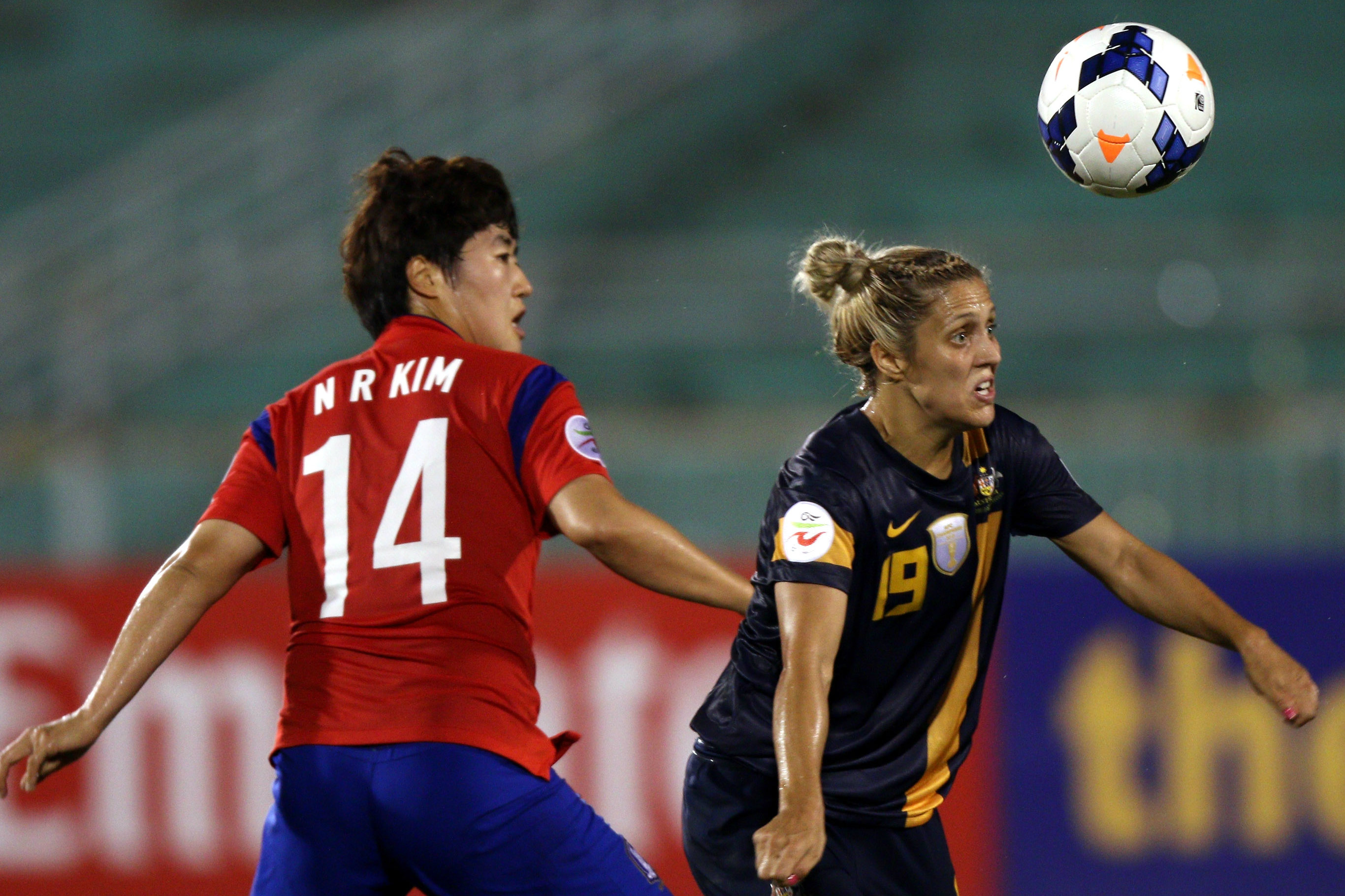 Katrina Gorry opened the scoring in the Asian Cup semi in 2014.