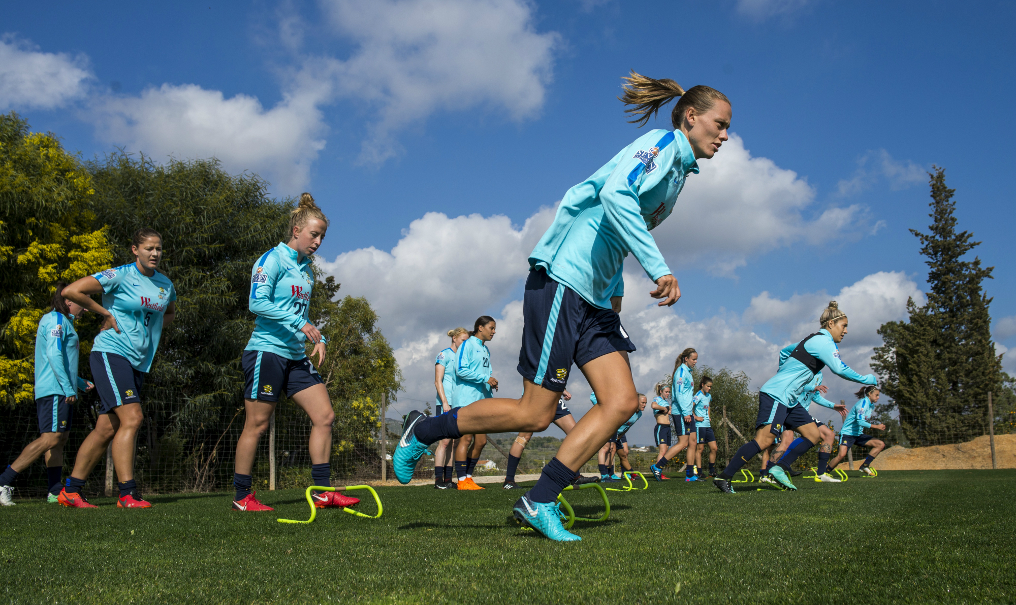 Emily van Egmond Matildas training