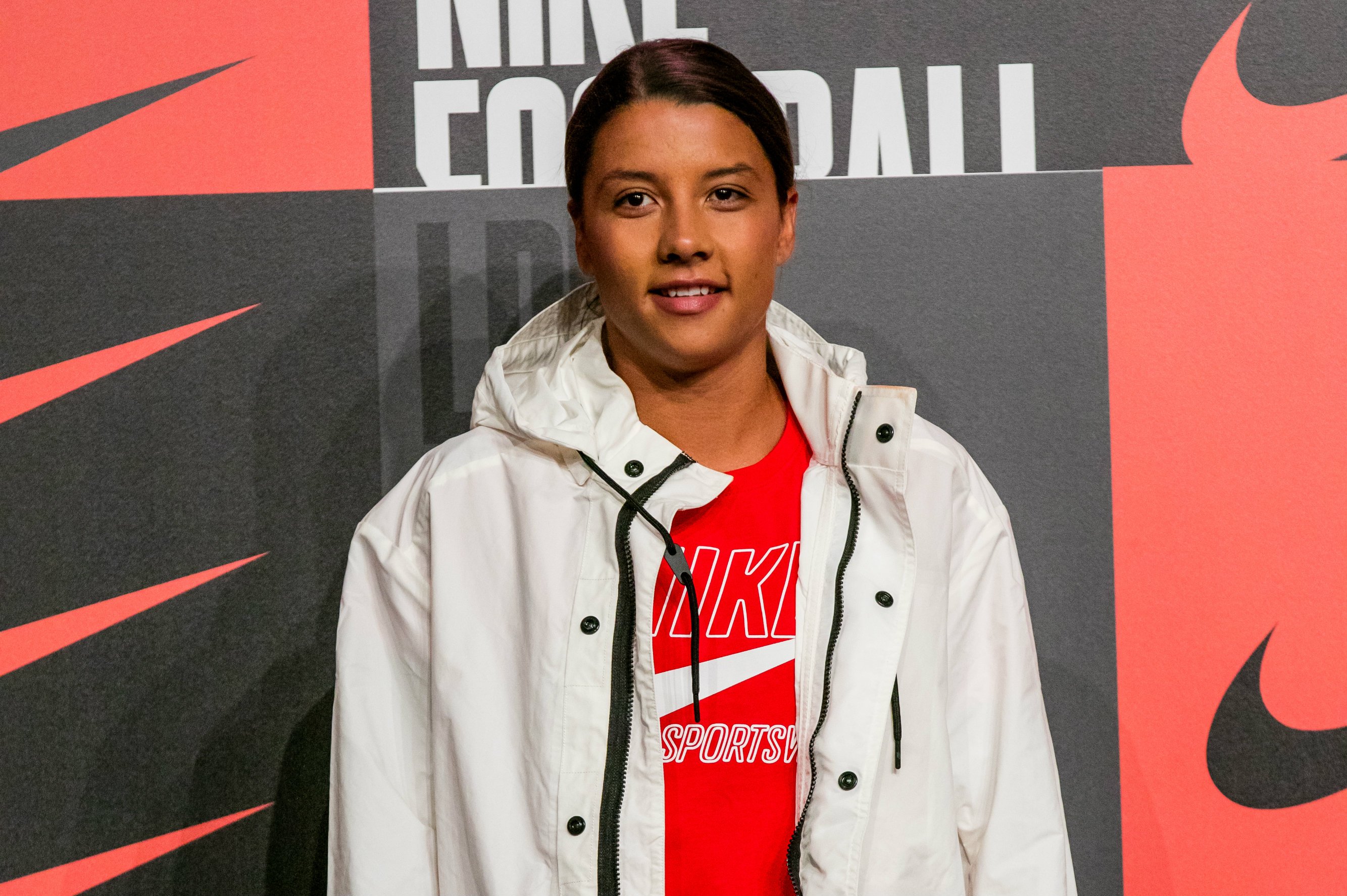 Sam Kerr in London. Image: Nike