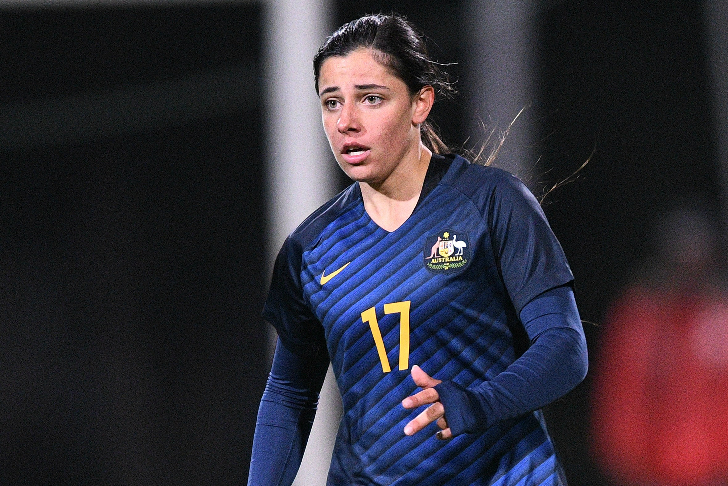 Alex Chidiac in action for the Westfield Matildas.