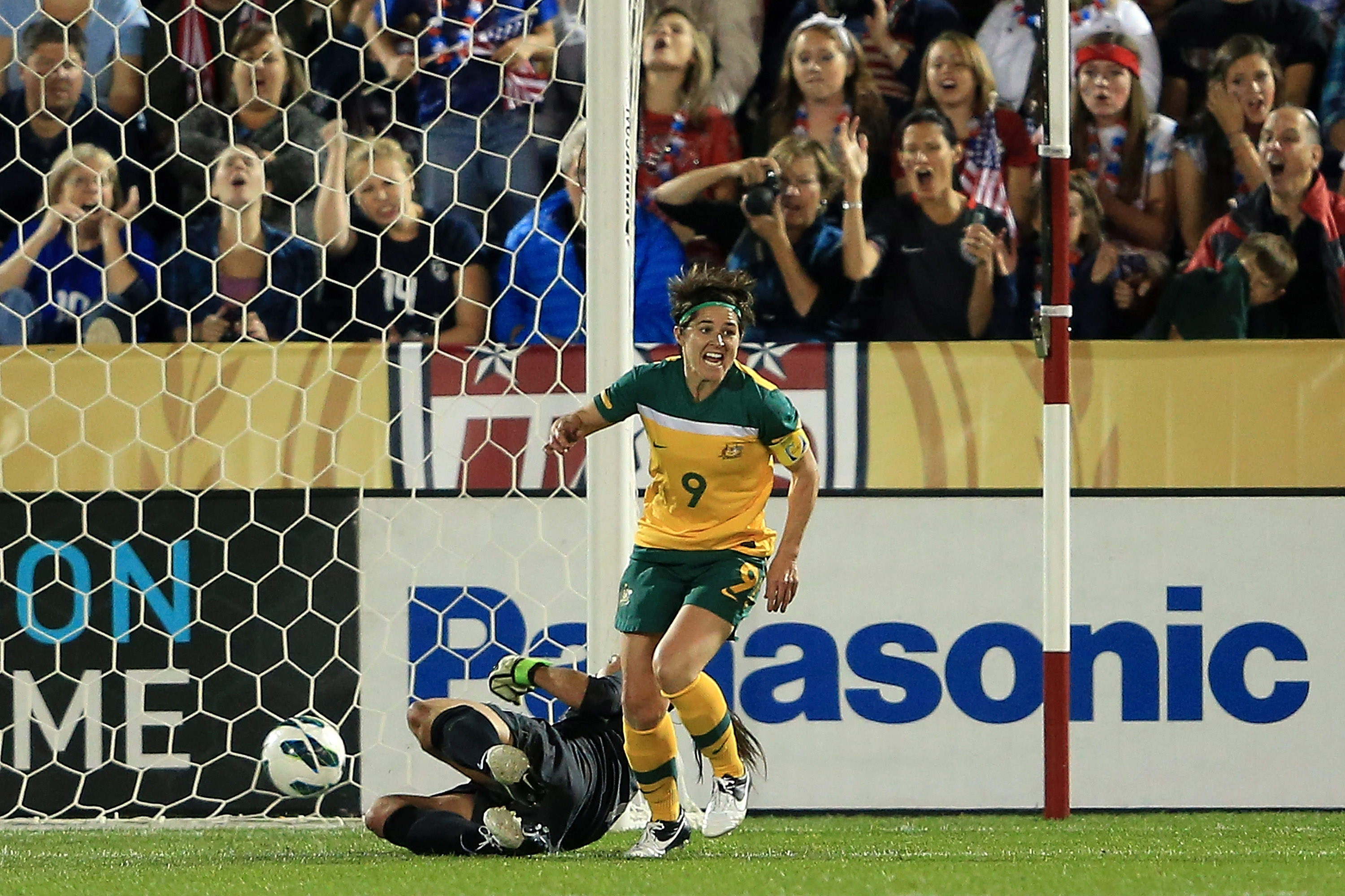Walsh scored against the United States in her final game as a Westfield Matilda in 2012