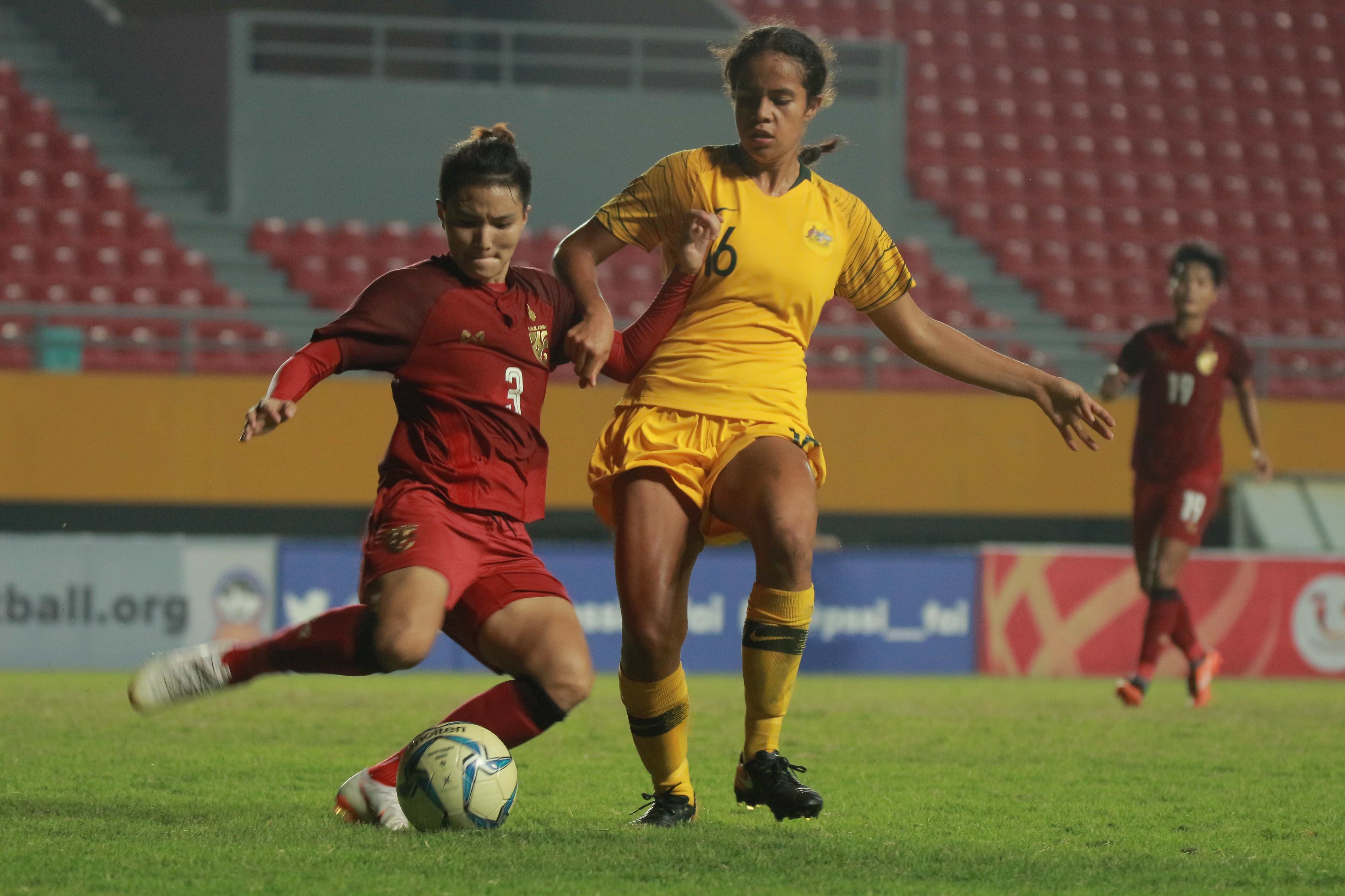 Mary Fowler in action for the Westfield Young Matildas against Thailand in the AFF Women's Championship final