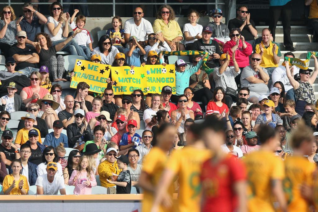 Matildas fans geelong