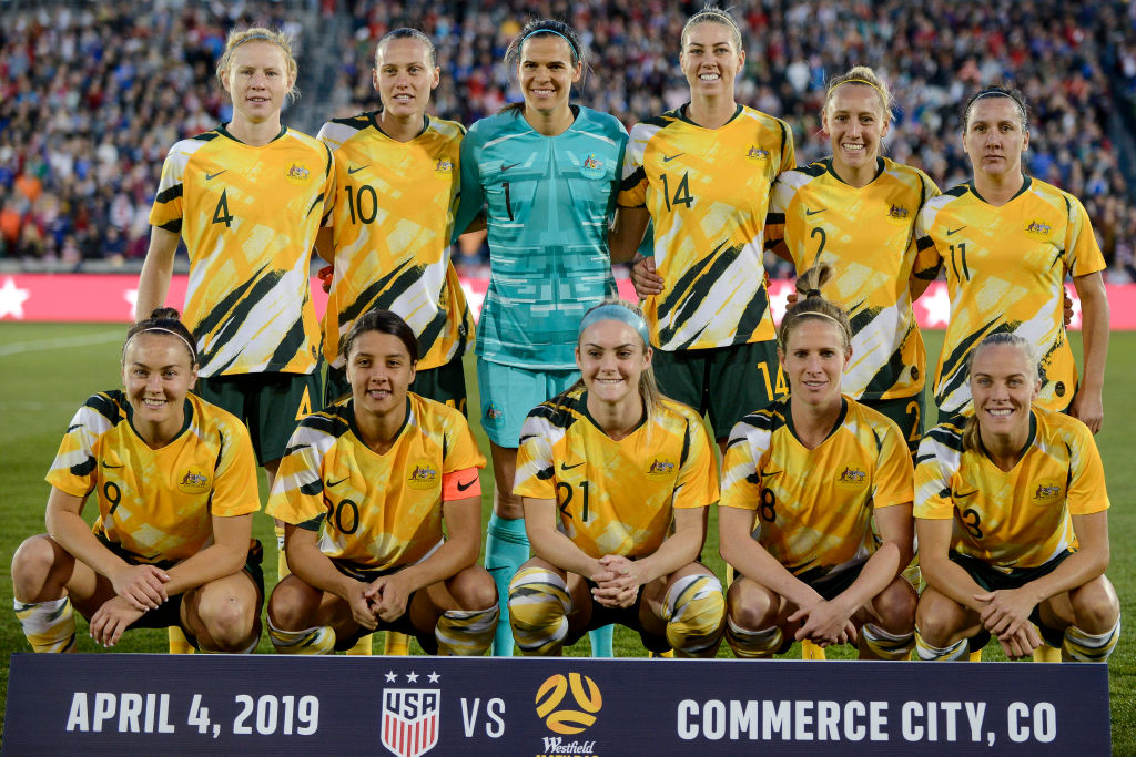 Matildas v USA team group_apr 2019