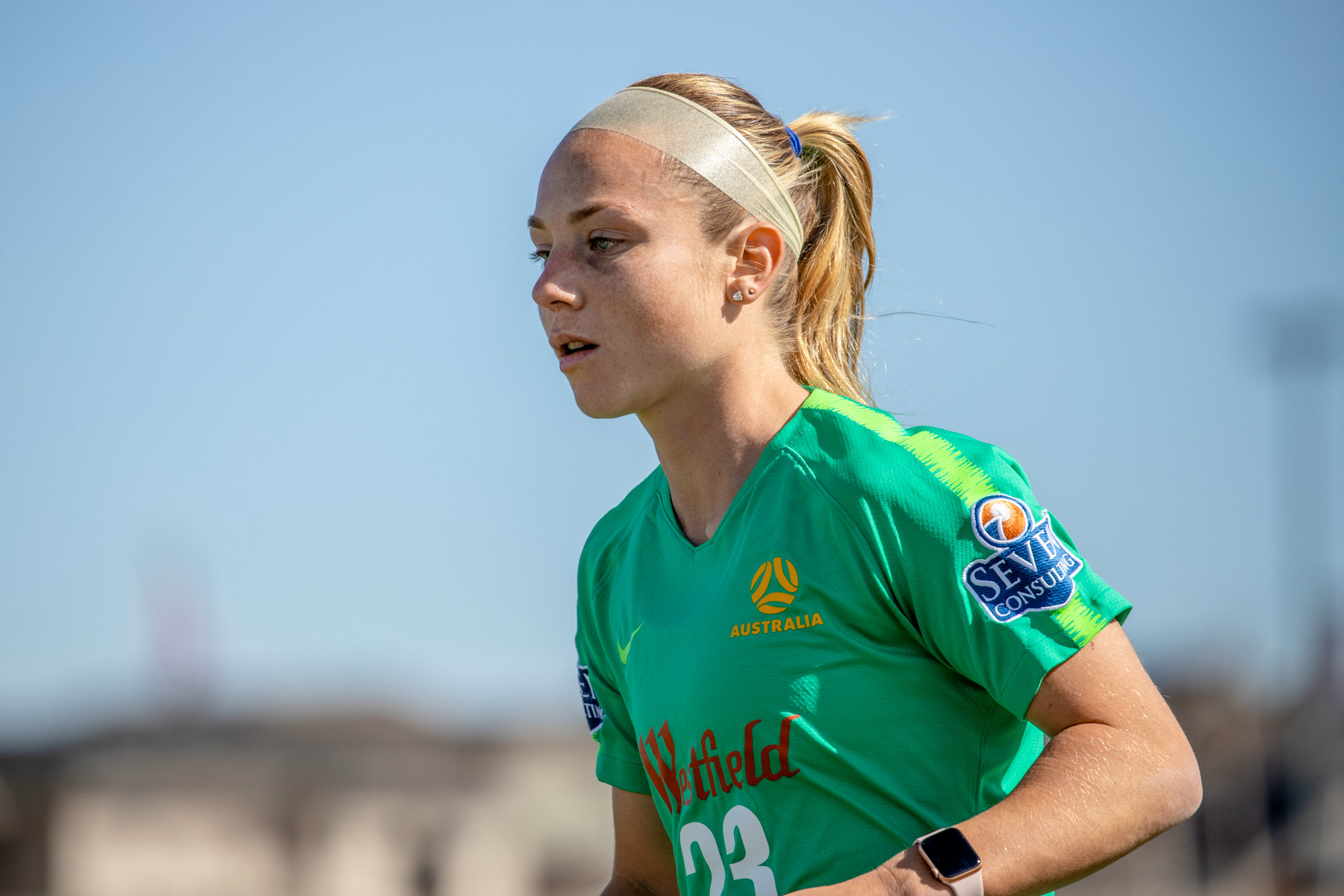 Teigen Allen has relished being in camp with the Westfield Matildas in the USA