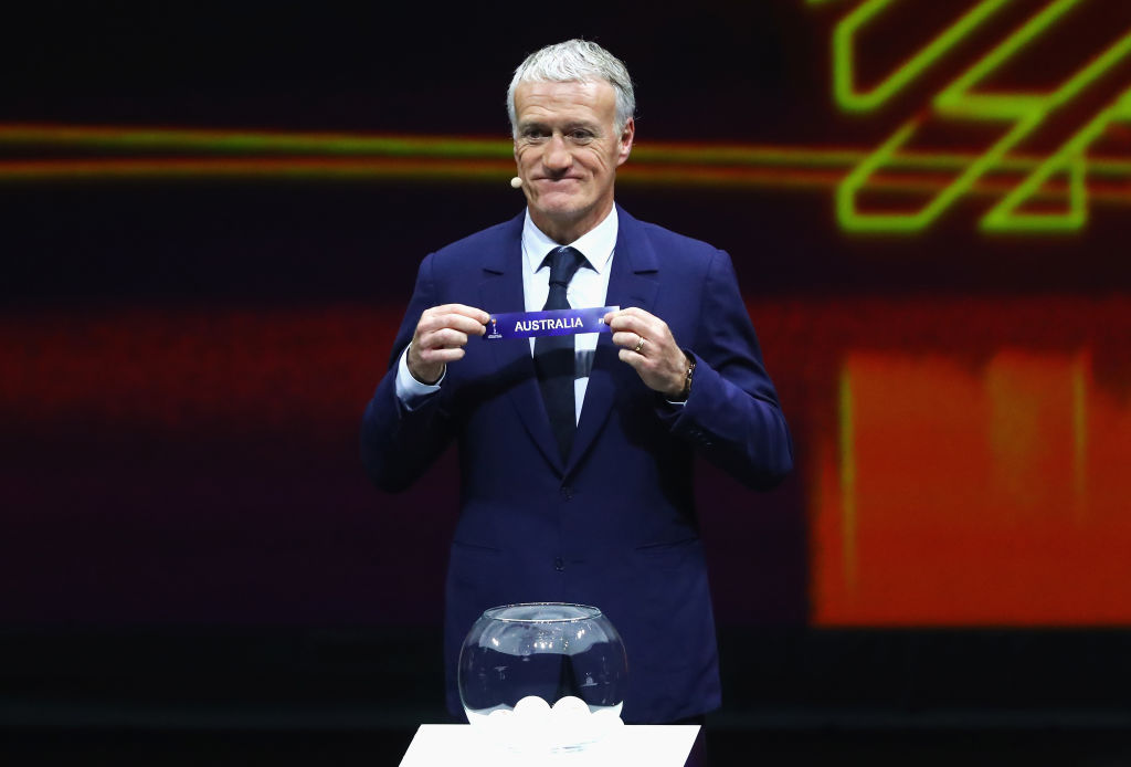 World Cup Countdown_24 days to go_Didier Deschamps with Australia label
