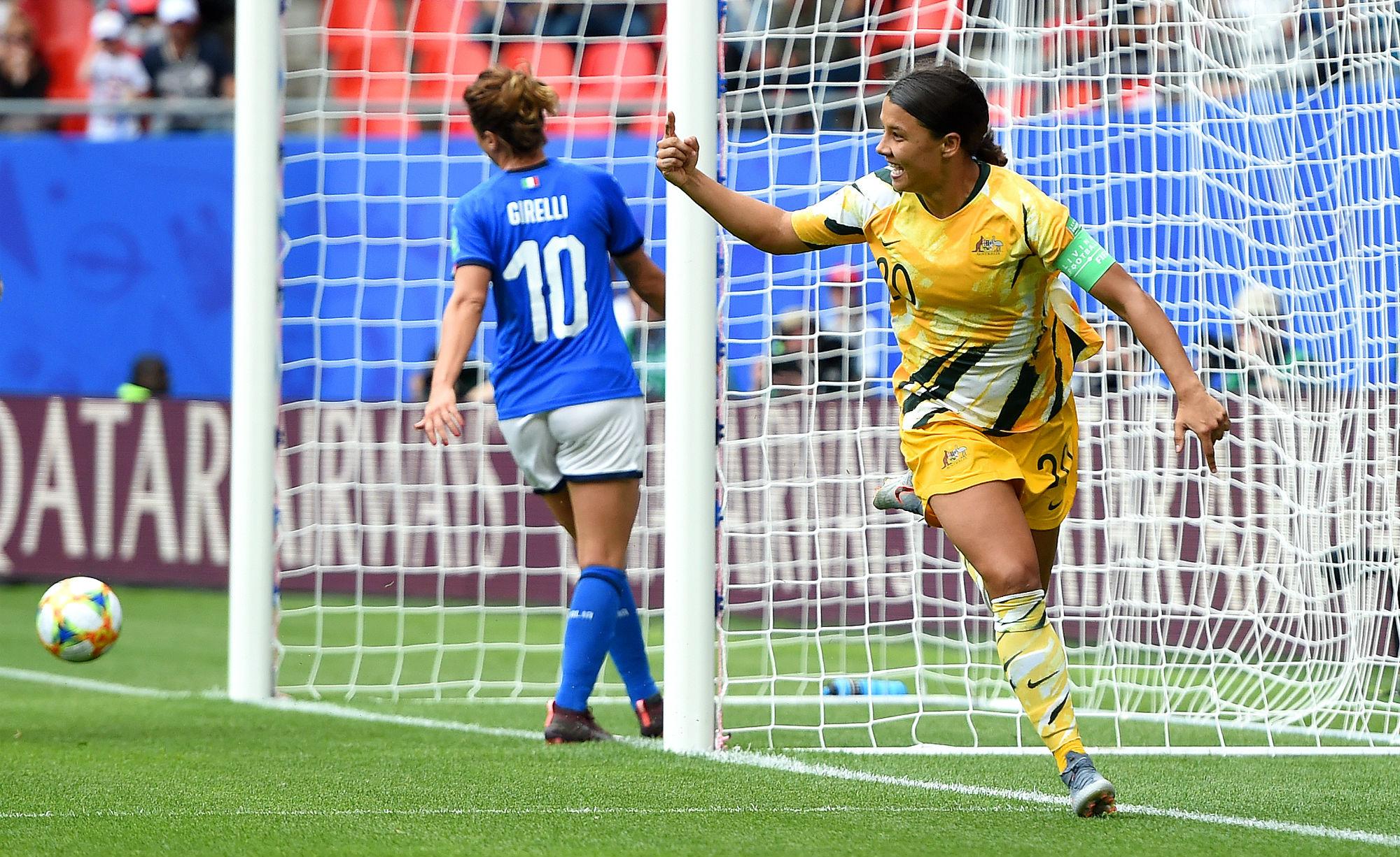 Sam Kerr scored against Italy
