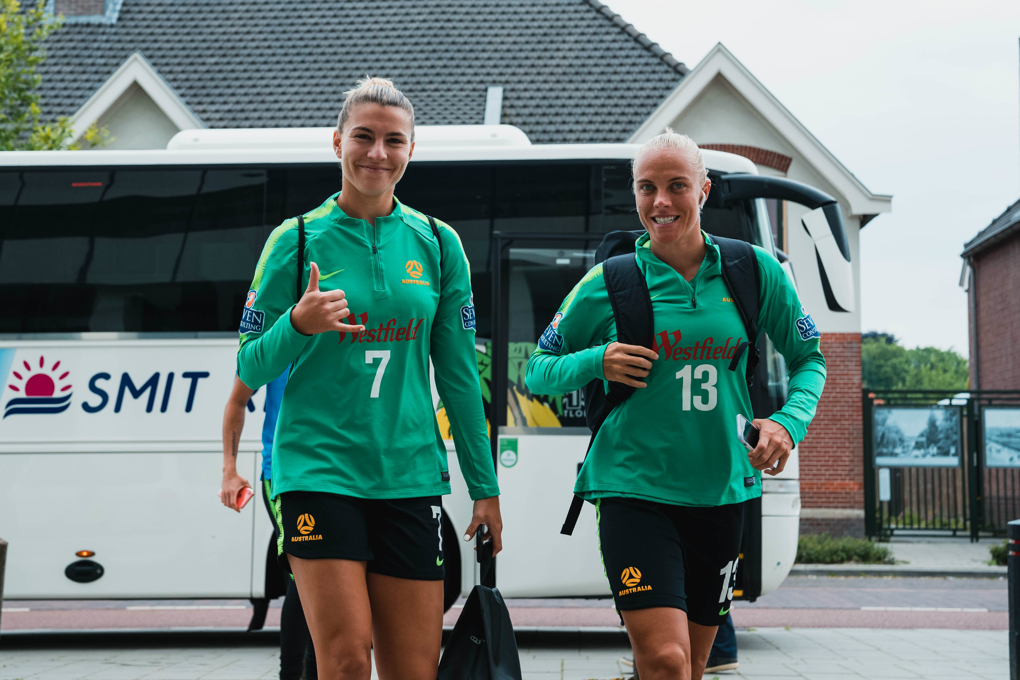 Steph Catley and Tameka Yallop are ready to go for Sunday's World Cup opener