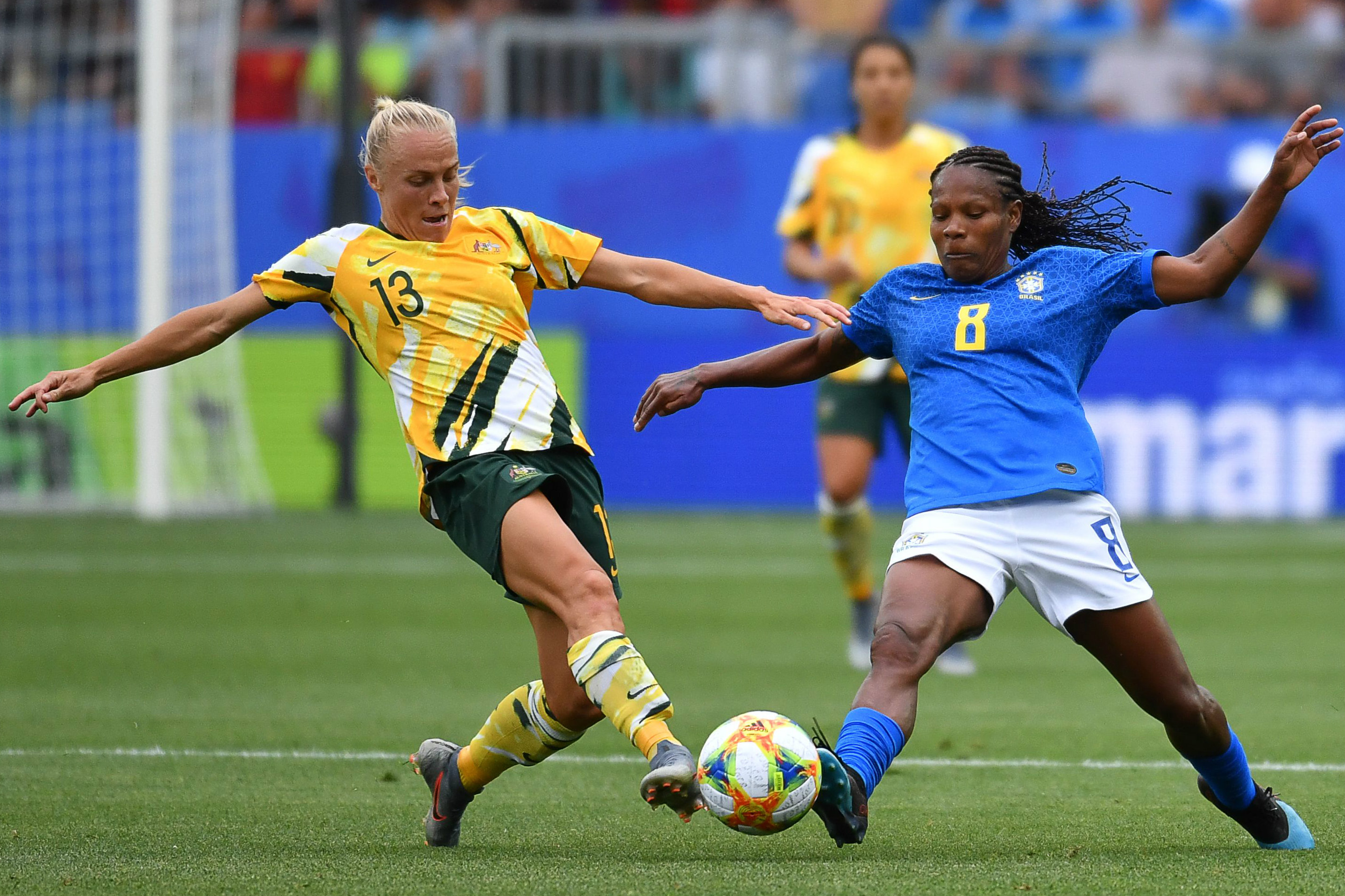 Tameka Yallop was everywhere in midfield for the Matildas