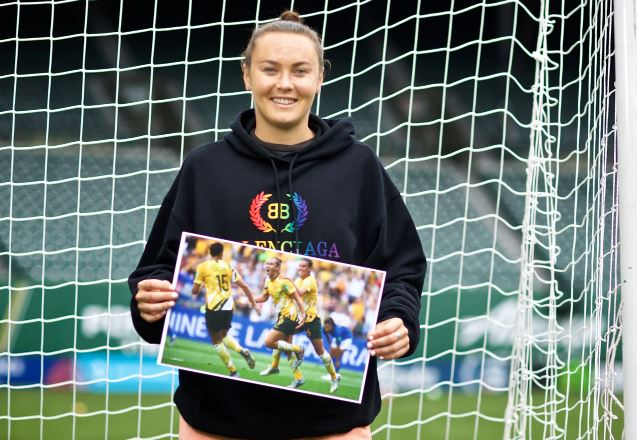 Caitlin Foord will never forget hew first World Cup goal