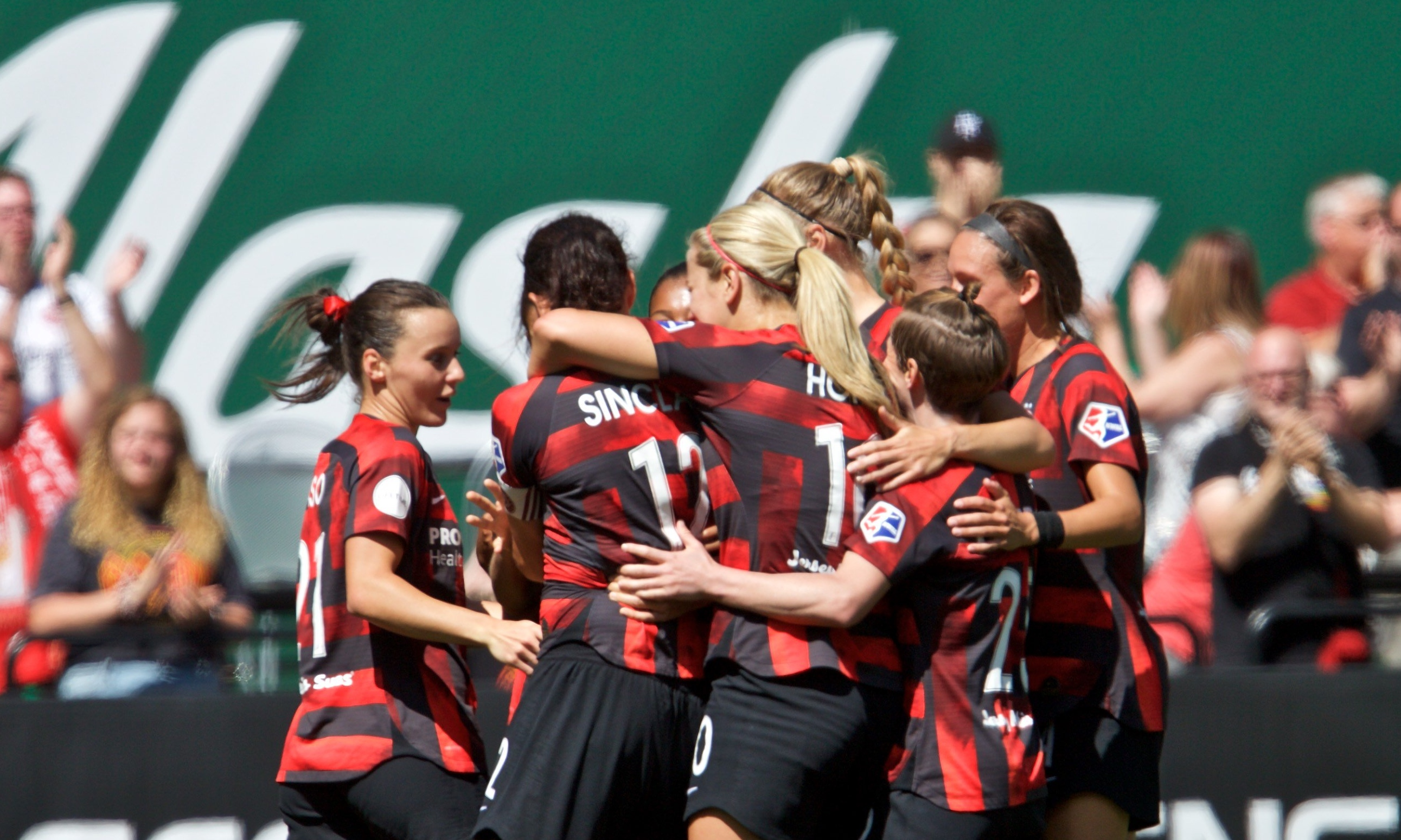 Hayley Raso was instrumental in Portland Thorns' big win over Chicago Red Stars this morning
