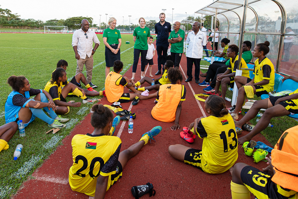 Junior Matildas v Vanuatu. Pic courtesy of Joseph Mayers