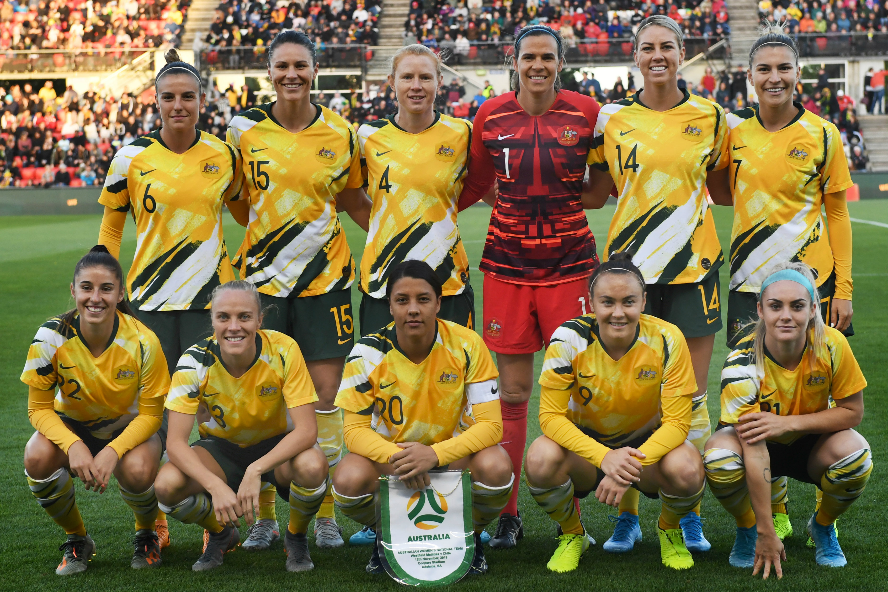 The Westfield Matildas' starting XI against Chile