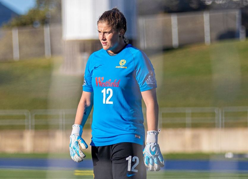 Teagan Micah in training with the Westfield Matildas