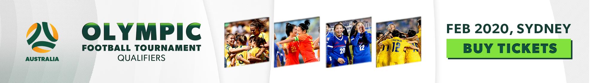 Matildas Olympics qualifying banner