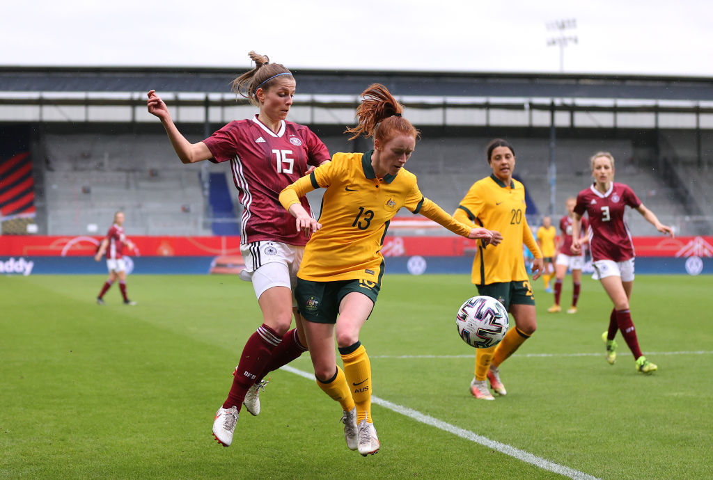 Beattie Goad defends against Germany