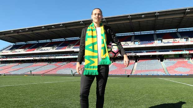 Emily van Egmond has lauded the growth of women's football in Australia and says hosting a World Cup on home soil would be 'massive' for the sport.