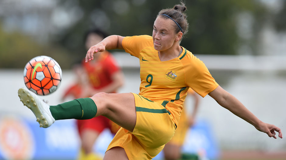 Caitlin Foord was in the thick of the action for the Westfield Matildas.