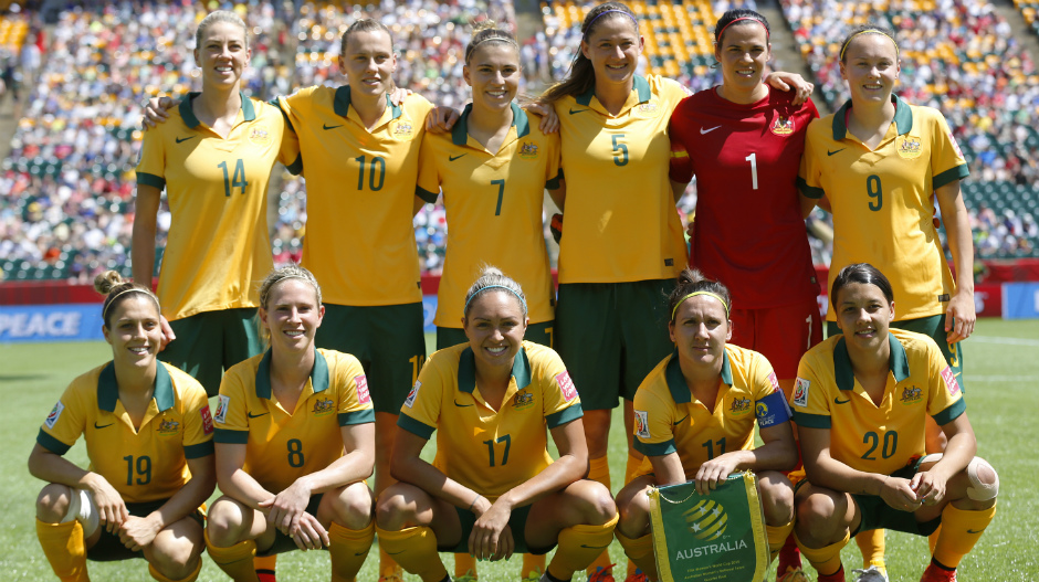 The Westfield Matildas starting side for their World Cup quarter-final against Japan in 2015.