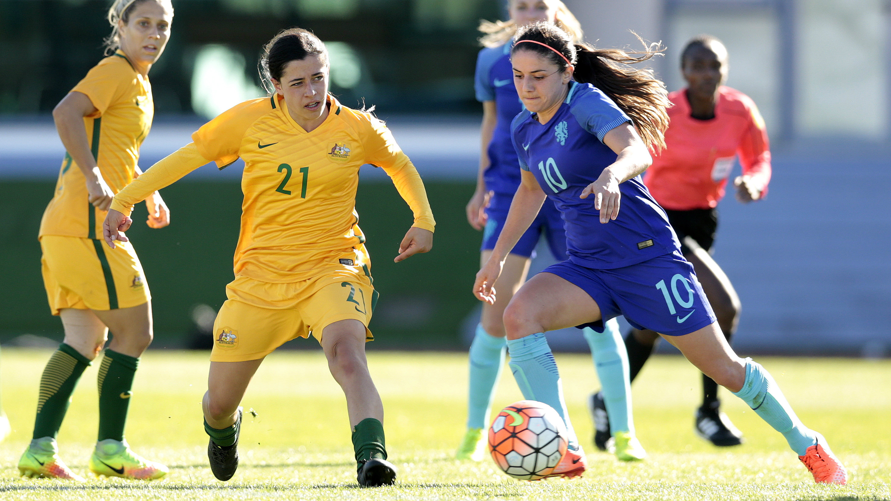 Alex Chidiac is part of a 23-player Westfield Young Matildas camp which will gather in Canberra next week for four days.