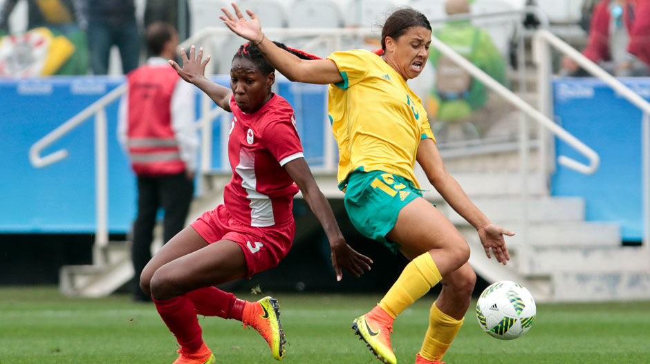 The dangerous Sam Kerr puts her body on the line.