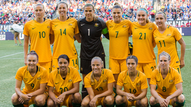 Matildas starting XI.