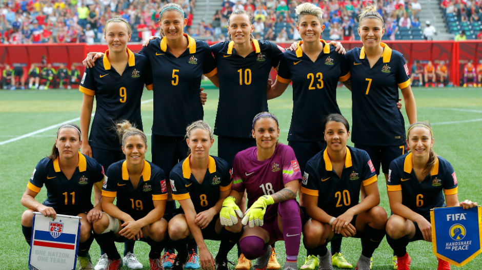 The Westfield Matildas starting XI for their World Cup opener in Canada.