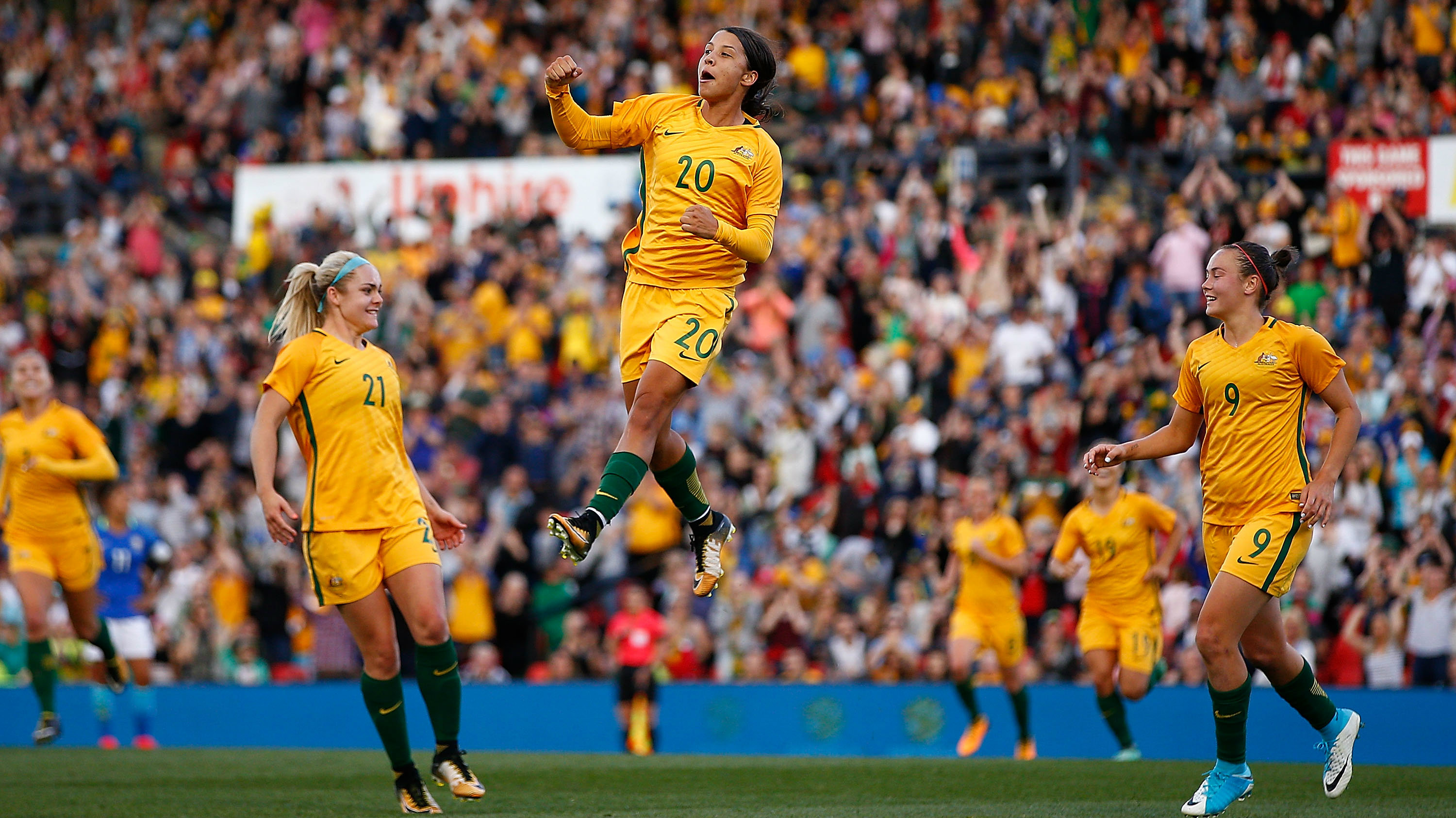 The Westfield Matildas defeated Brazil 2-1 in Penrith.