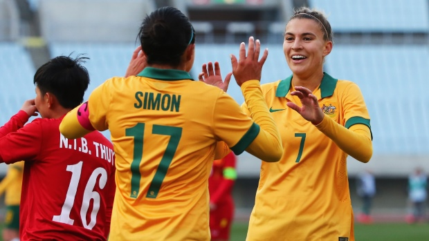 Kyah Simon and Steph Catley