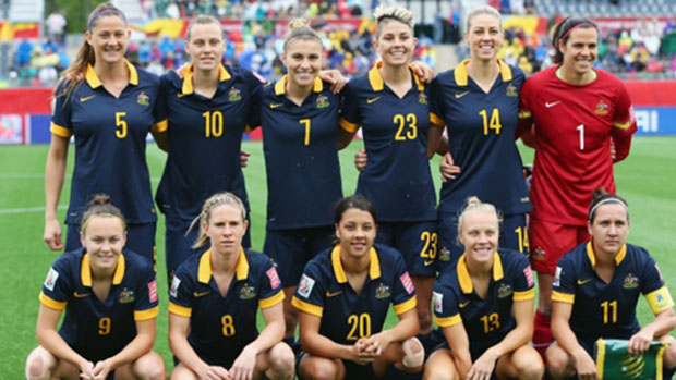 The Matildas starting XI for their clash with Brazil.