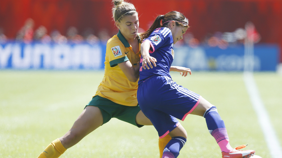 Steph Catley was tireless in defence against Japan's technical brilliance.