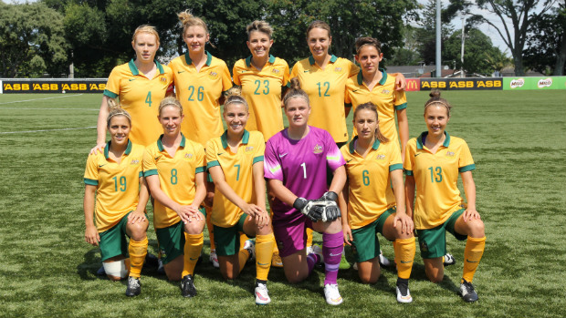 The Westfield Matildas starting XI for their clash against DPR Korea.