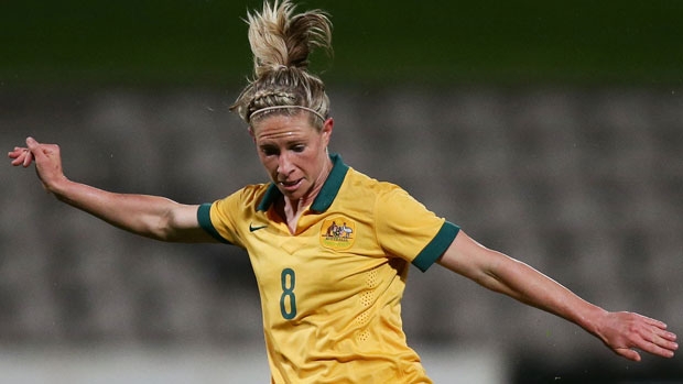 Elise Kellond-Knight in action for the Westfield Matildas.