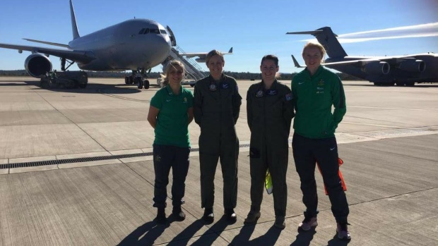 Matildas at RAAF base 2