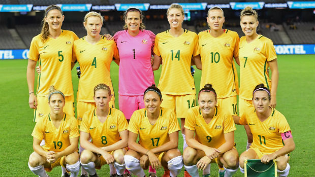 The Westfield Matildas starting XI against New Zealand at Etihad Stadium.