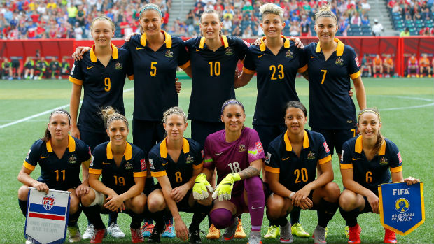 The Westfield Matildas starting XI against the USA.