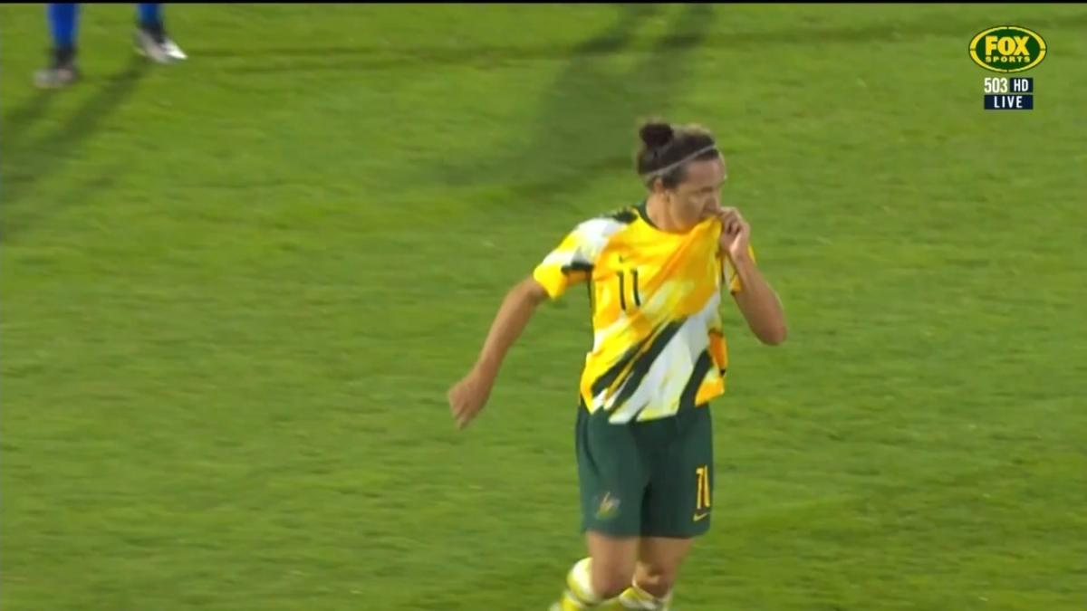 Lisa De Vanna scores for the Matildas vs USA