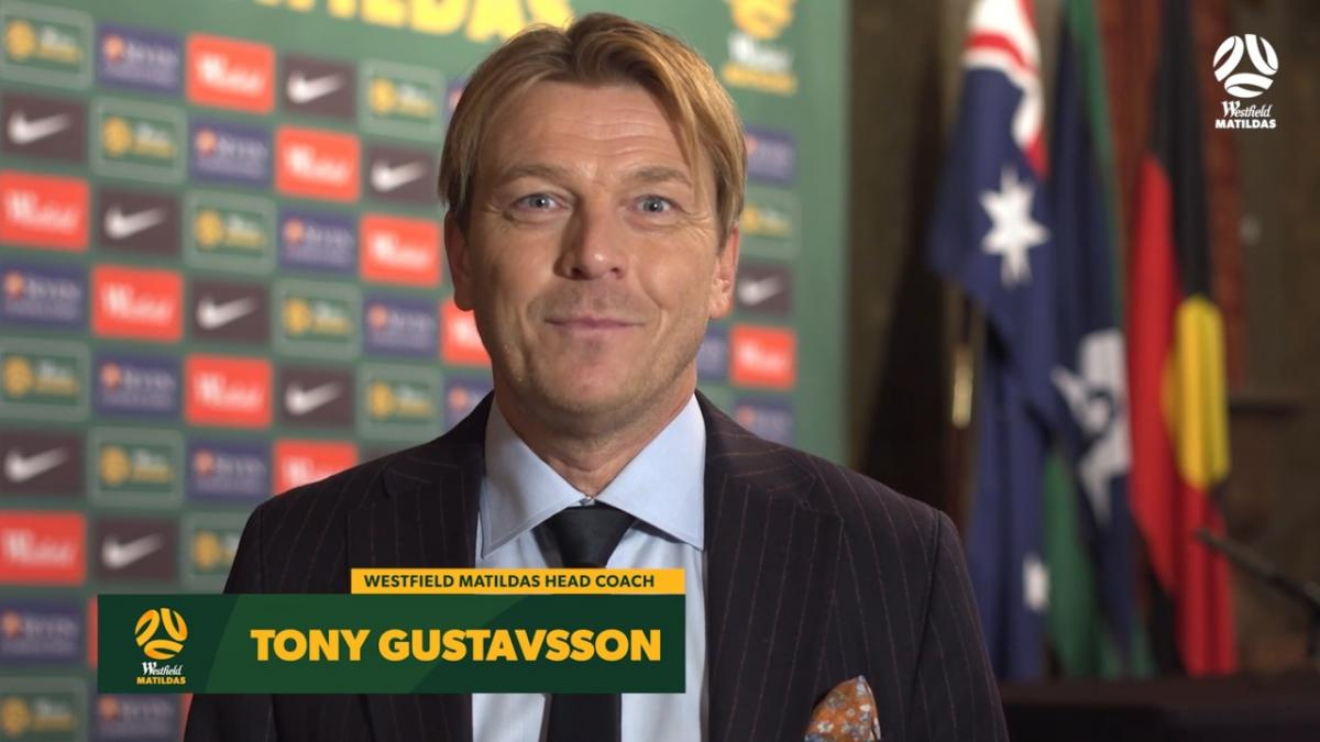 Tony Gustavsson sends a message to the Westfield Matildas fans