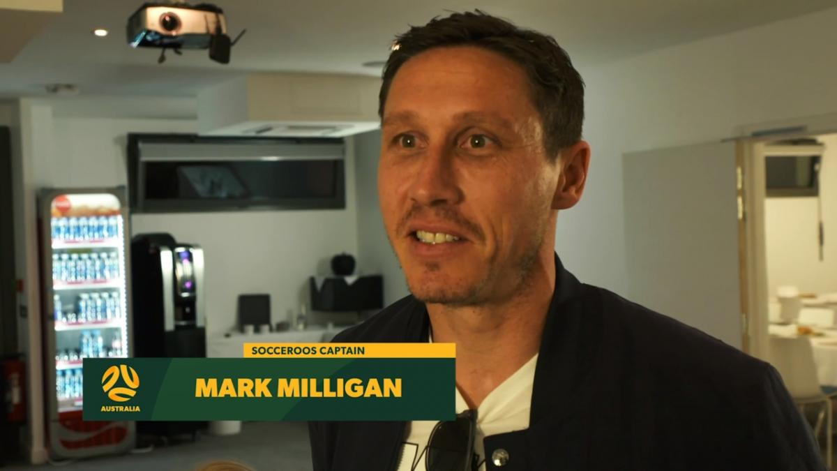 Mark Milligan visits the Matildas camp in France