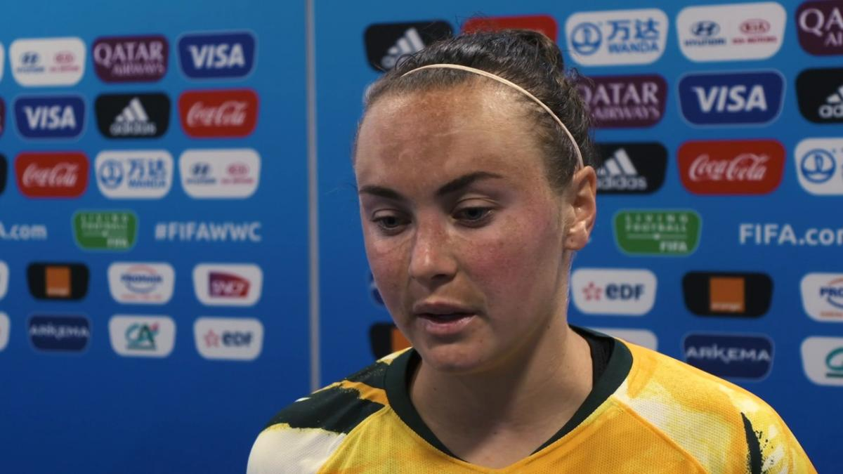 Post Match Reaction With Caitlin Foord