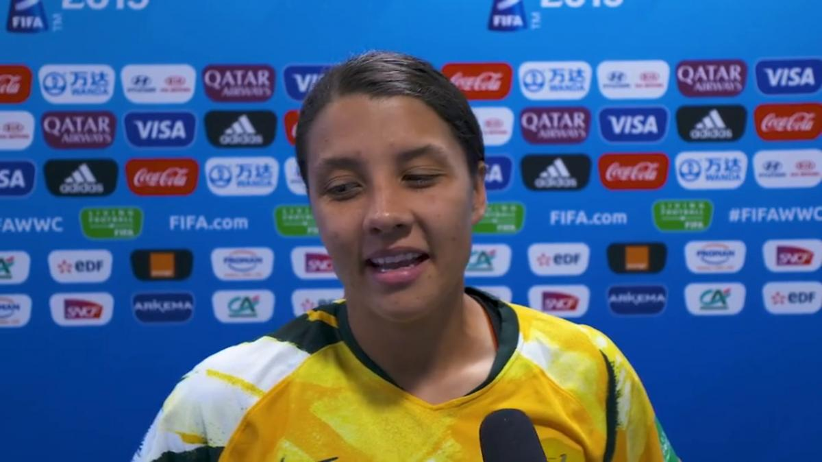 Post Match Reaction With Sam Kerr