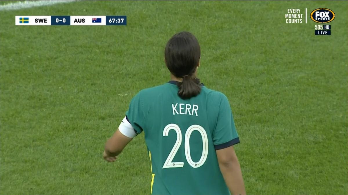 CROSSBAR: Kerr - Skipper denied by the woodwork