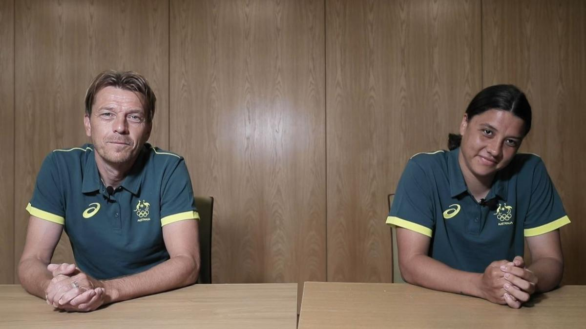 Tony Gustavsson and Sam Kerr post Tokyo 2020 selection announcement press conference