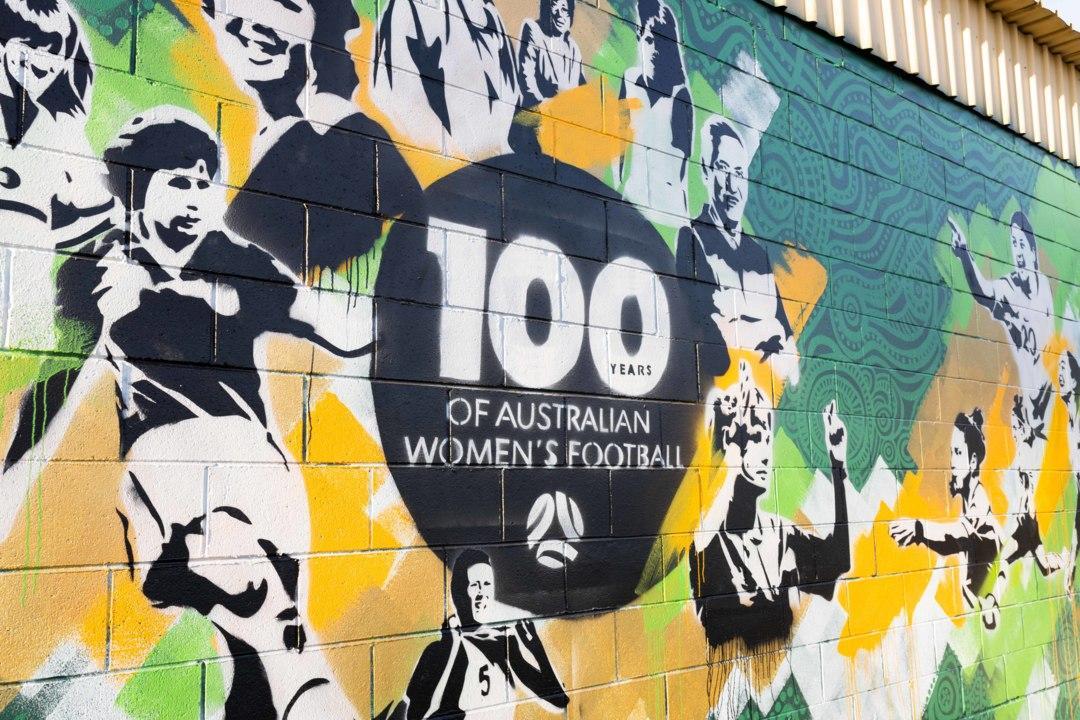 100 Years of Women's Football Mural - Timelapse