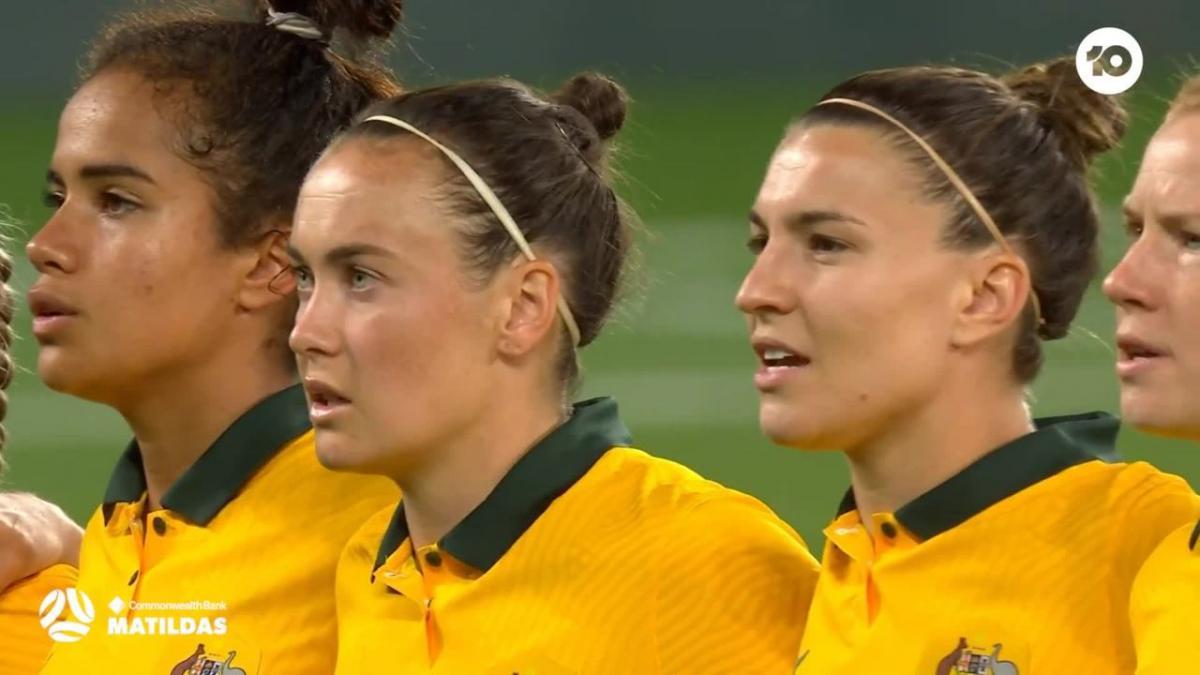 Australian Anthem | CommBank Matildas v Brazil
