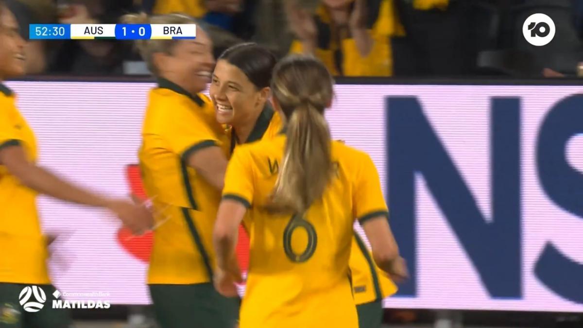 GOAL: Kerr scores her 49th goal for Australia | CommBank Matildas