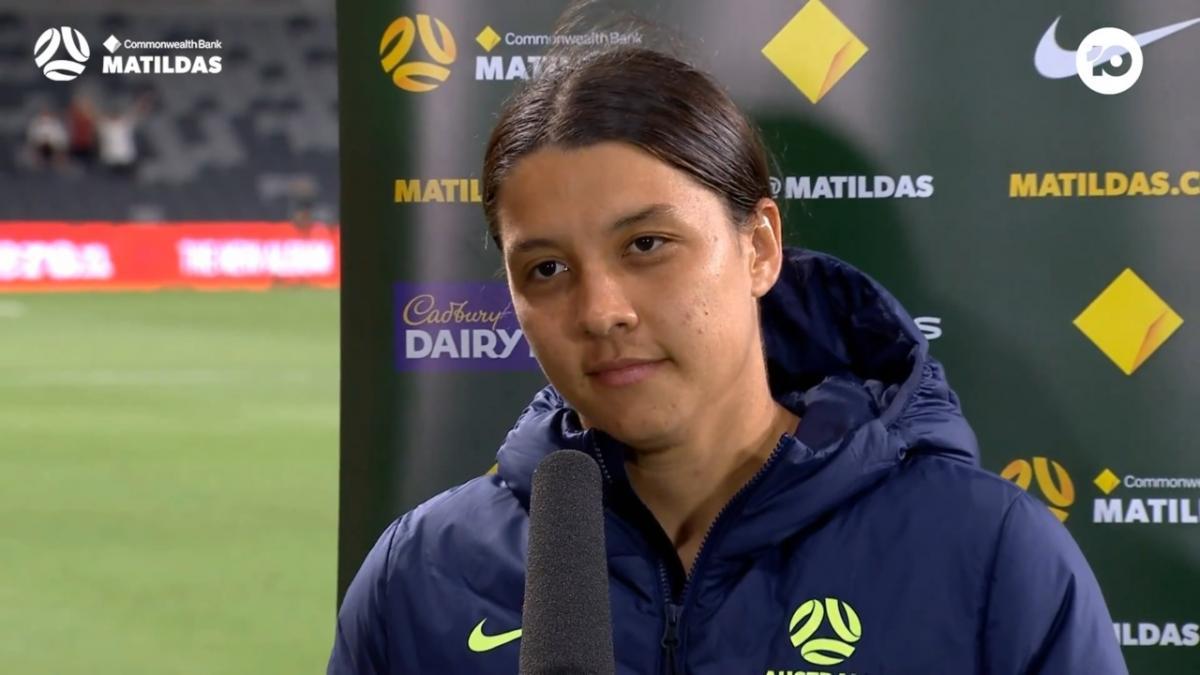 Kerr: I'm really proud of the girls | Interview | CommBank Matildas v Brazil